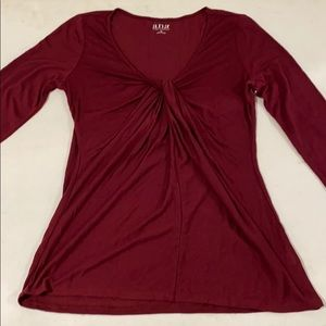 Soft twist blouse